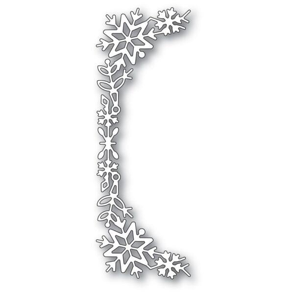Snowflake Tall Curve Border