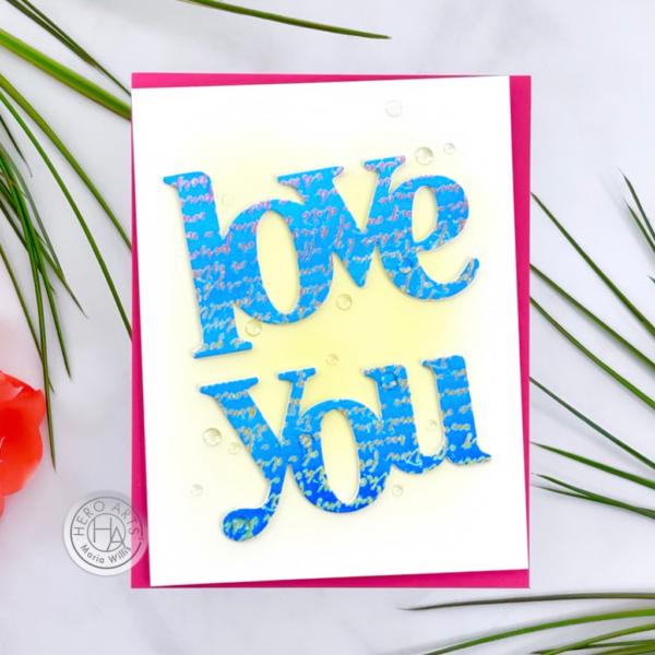 Love You Stamp & Cut XL