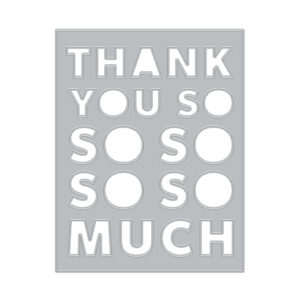 Thank You Message Cover Plate (F)