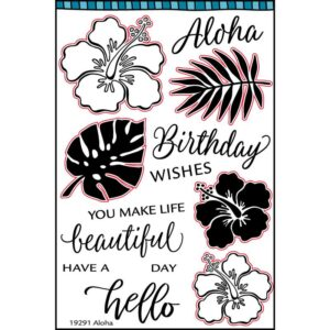 Aloha/Hibiscus Stamp Set
