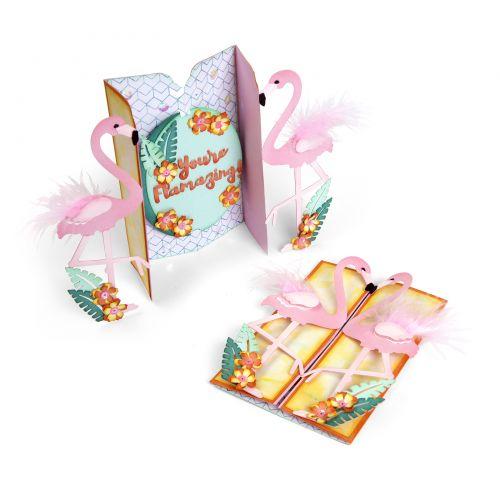 Flamingo Fold-A-Long Card