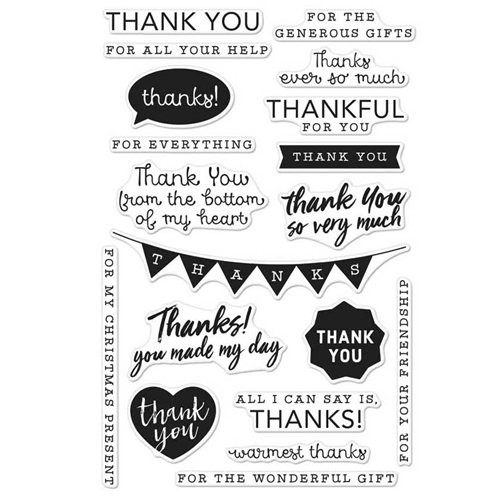 Thank you Stamp Set by Hero Arts