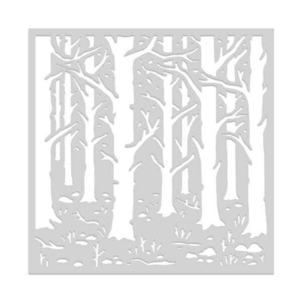 Hero Arts Woodland Forest Stencil